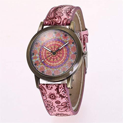 ZSDGY Flower Dial Ladies Belt Watch, Reloj de Cuarzo Bohemio E