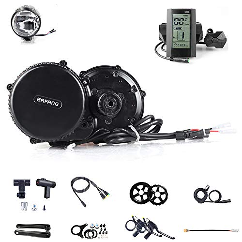 36V 250W Bafang/8fun BBS01B Mid Crank Drive Motor Kits Mid Drive Electric Bike Conversion Kit APT LCD Display Geared Motor Kit Eletric Bicycle ebike Kits (44T, C965)