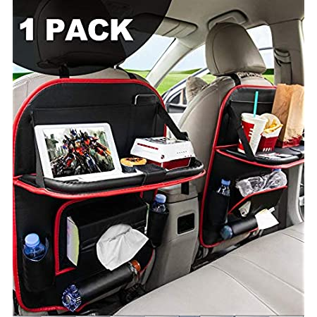 Backseat Organizers Leather Stylish Durable Back Seat Storage for Kids Toy Bottle Drink Vehicles Travel Accessories 2 Pack FLY OCEAN Car Seat Organizer