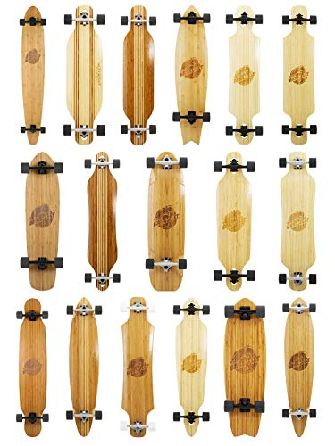 Two Bare Feet Bamboo Series Longboard Skateboard Complete Premium Pro Model...