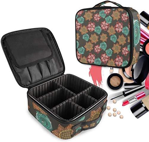 Cosmétique HZYDD Tournesol Daisy Floral Make Up Sac Trousse de Toilette Zipper Sacs de Maquillage Organisateur Poche for Compartiment Femmes Filles Gratuit
