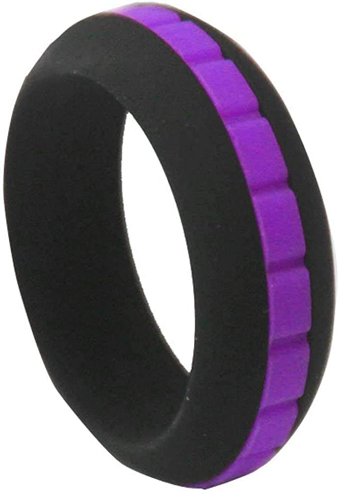 Jude Jewelers 8mm Food Grade Silicone Two-in-One Excerise Sports Wedding Promise Statement Band Ring