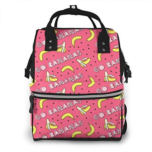 BOFJHASIFHAOAS Go Bananas Mummy Bags Multi-Function Travel Backpack Nappy Bag