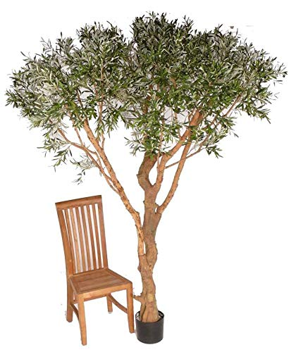 Künstlicher Olivenbaum Parasol mit 9984 Blättern, 220 cm - großer Kunstbaum
