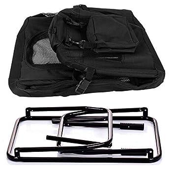 EUGAD 0127HT Cage de Transport en Oxford Sac de Transport Pliable pour Chien ou Chat,Noir 81,3x58,4x58,4cm