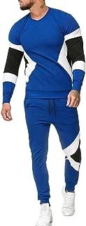 Mens Casual 2 Pieces Sweatshirt + Pants Running Jogger Tracksuit Sport Suit
