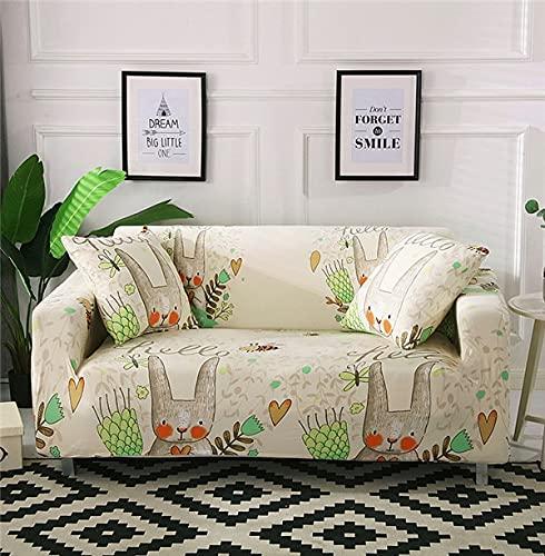 WXQY Funda de sofá elástica para Sala de Estar Bien Envuelta Funda de sofá Antideslizante con Todo Incluido Funda de sofá Modular Funda de sofá A8 4 plazas