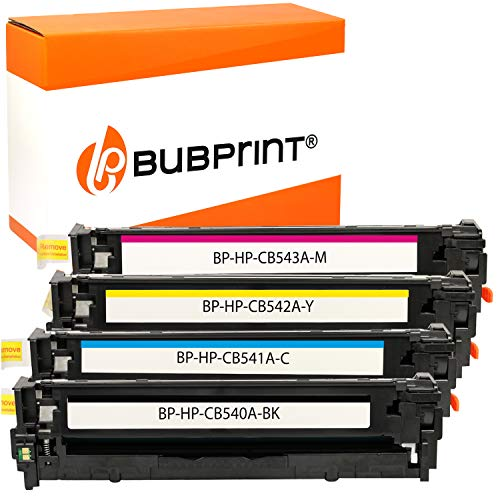 Bubprint 4 Toner kompatibel für HP CB540A CB541A CB542A CB543A 125A für Color Laserjet cm 1300 1312 MFP CP1200 CP1210 CP1215 CP1217 CP1510 BK C M Y