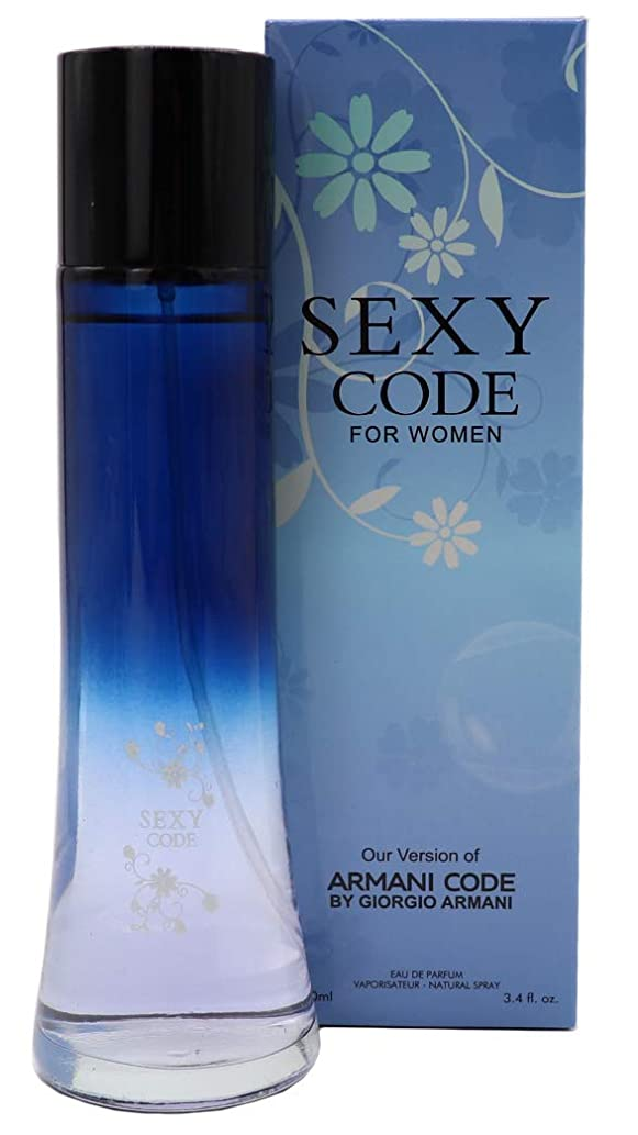 EMPIRE CODE, Our Version of ARMANI CODE, Eau de Parfum Spray for Women, Perfect Gift, Feminine, Daytime and Casual Use, for all Skin Types, a Classic Bottle, 3.4 Fl Oz