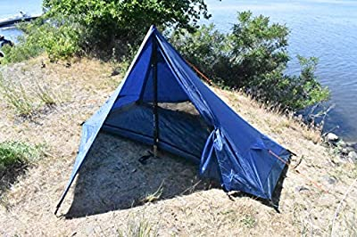 River Country Products One Person Trekking Pole Tent, Ultralight Backpacking Tent - Blue