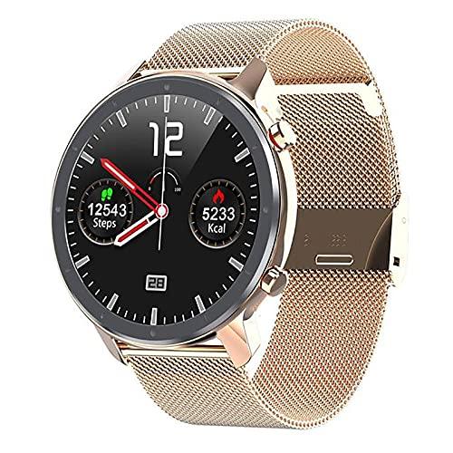 ZGZYL L11 Reloj Inteligente para Hombres Presión Arterial Presión De Sangre Oxígeno PPG + ECG Monitor De Ritmo Cardíaco Bluetooth Smart Hand Strapewatch Pedómetro IP68 Reloj Deportivo Impermeable,F