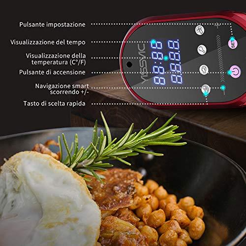 Yissvic Sous Vide 1200W IPX7 Roner Cucina a Cottura Bassa Temperatura Termocircolatore Professionale Circolatore di Immersione Acciao Inox 304 per Cottura Sottovuto