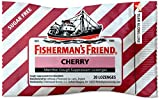 Cough Drops by Fisherman's Friend, Cough Suppressant and Sore Throat Lozenges, Cherry Sugar Free Menthol Flavor (24 Pack of 20 Count Each) 480 Count