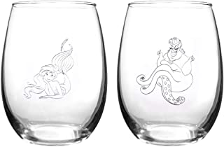 Disney Collectible Wine Glass Set (Little Mermaid)