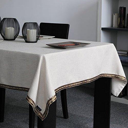 Nappe moderne minimaliste table basse nappe nouvelle Chine solide couleur rectangle nappe rectangle (Color : Beige, Size : 100 * 160cm)