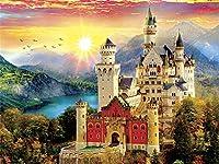 子供と大人に適した2000のジグソーパズル城木製のパーソナライズされたアセンブリパズル楽しいゲーム