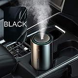 XTR 300ml Humidificador de Aire Difusor de Aceite Esencial de Aroma de Coche para Oficina en casa Purificador de Aire de Coche Nano Spray Mute Clean Air Care, Negro