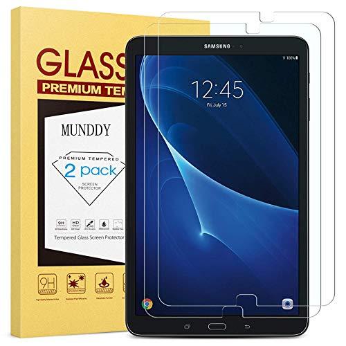 munddy- Pack DE 2 Protectores Cristal Templado para Samsung Galaxy Tab A...