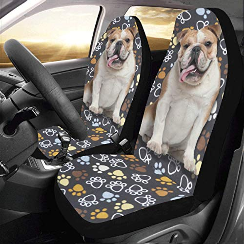 Artsadd Dog Lover French Bulldog Car Seat Covers (Set of 2) Best Automobile Seats Protector