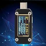 【𝐎𝐟𝐞𝐫𝐭𝐚𝐬 𝐝𝐞 𝐁𝐥𝐚𝐜𝐤 𝐅𝐫𝐢𝐝𝐚𝒚】Probador de potencia multifunción portátil de fibra de vidrio negra KM001C para curvas de corriente de voltaje de corriente de puerto