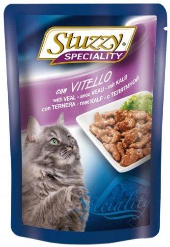 Stuzzy kattenvoering kalf 100 g, verpakking van 24 (24 x 100 g)