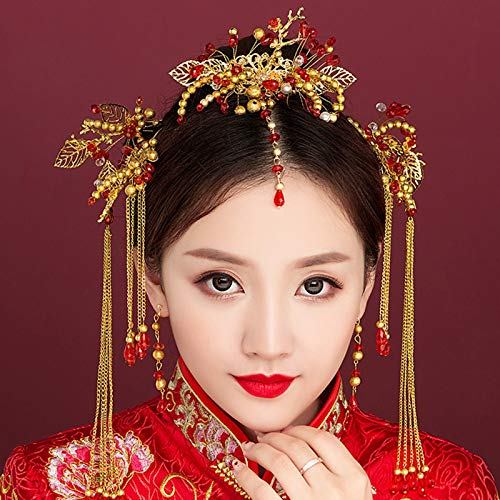 Wedding Classical Traditional Chinese Wedding Bride Hair Accessory With Combs wedding accessories
