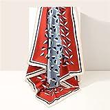 XXW Pañuelo de seda para mujer, bufandas cuadradas de verano, bufandas, cuello, bufanda de cabeza (color: D)