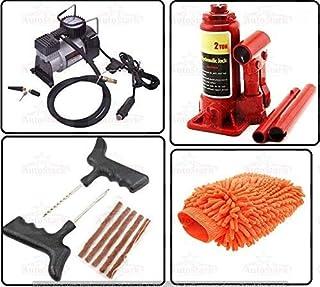 AutoStark Car Accessories Combo Air Compressor + 2 Ton Hydraulic Bottle + Puncture Repair Kit + Microfibre Cloth Maruti Suzuki Omni
