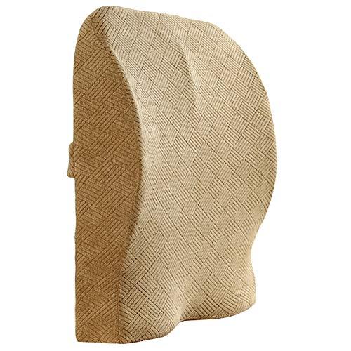 GuoWei-Lendenkissen Zurück Unterstützung Gedächtnisschaum Entlasten Niedriger Schmerzen zum Büro Schreibtisch Stuhl Auto Sitz (Farbe : D, größe : 39x9x40cm)