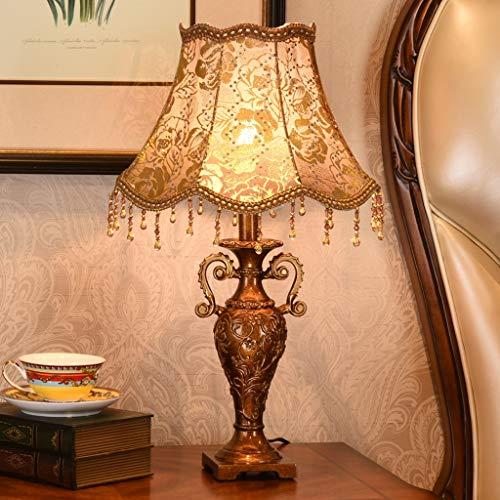 liushop Lámpara Escritorio Conjunto de la Vendimia lámpara de Mesa, lámpara de cabecera con lámpara de Mesa Retro for el Dormitorio, la Sala de Estar Lampara de Lectura