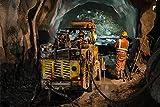 Bauarbeit Bergbau Tunnel XXL Wandbild Kunstdruck Foto
