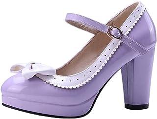 BeiaMina Femmes Mary Jane Escarpins Chaussures à Talons