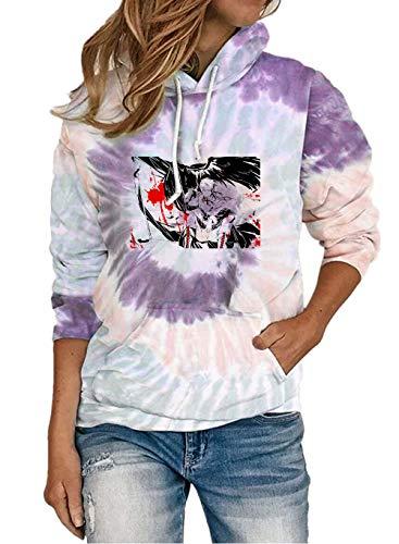 Axis Powers Pullover Mujeres Vintage Sudadera Soft Light Outwear Hermosas Sudaderas con Capucha Deportes Entrenamiento Pullover Fashion Classic Abrigos Unisex (Color : Purple02, Size : L)