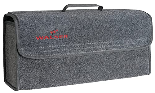 WALSER Kofferraumtasche Toolbag Größe L, Nadelfilz Kofferraum-Organizer, Autotasche, Aufbewahrungstasche, Kofferraum-Toolbag 22x16x50 cm