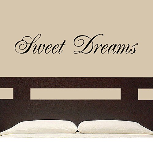 """Sweet Dreams"" Sweet Dreams Wall Decal Wall Words Home Decor Bedroom Decor Great Gift (Black)"