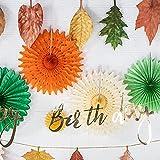 EASY JOY Geburtstag Dekoration Herbst Blätter Girlanden Party Deko Orange - 6