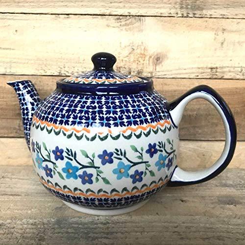 MidaART Bunzlauer Keramik Teekanne Kaffeekanne 1 L Handarbeit Dekor 1154a