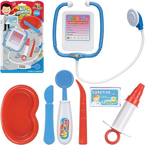 Brincando De Profissões Kit Medico Art Brink 7 Peças - 01 Unidade