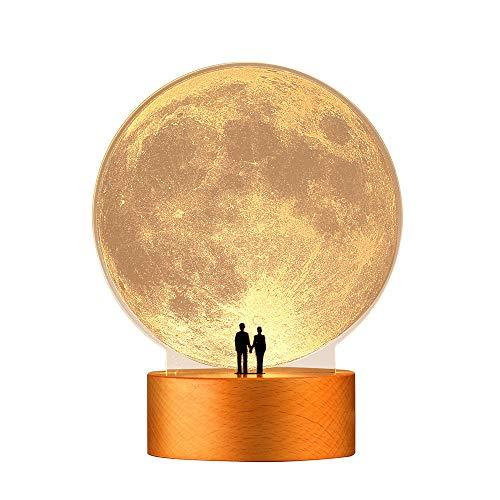 mamre Moon Night Light Anniversary Wedding Valentines Day Housewarming Gift...