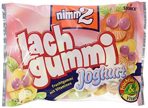 nimm2 Lachgummi Joghurt – Spaßiges Fruchtgummi mit Vitaminen – 15er Pack (15 x 250g Beutel)