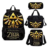 The Legend of Zelda - Mochila 3D de 4 piezas, diseño de The Legend of...