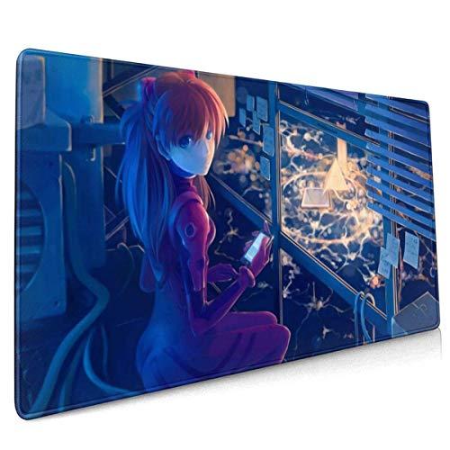 Mousepad Neon Ge-Nesis Evangelion Mausmatte Mauspad Geschenk Tischspiel Mousepad Rutschfestes Großes Rechteck Anime Gedrucktes 40X75Cm Computer Rubber Office