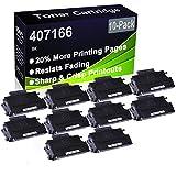 Paquete de 10 cartuchos de impresora compatibles de alto rendimiento 407166 para Ricoh Aficio SP100 SP100E SP100SU SP100SF SP112 SP112SU SP112SF
