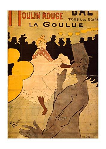 Spiffing Prints Henri Toulouse Lautrec - Moulin Rouge-La Goulue - Small - Matte - Framed