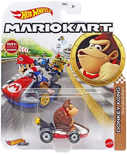 DieCast – GRN24 – Modelo Kart de Donkey Kong Standard Kart de Super Mario Kart – Multicolor – 1/64 6 cm