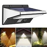 OUSFOT Solarlampen für Außen mit Bewegungsmelder Solarleuchte 2200mAh 3 Modi