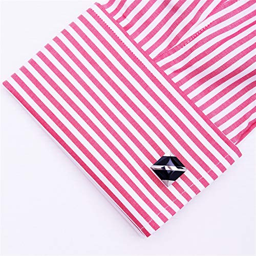 ZXJJY Fashion Shirt Cufflinks for Mens Brand Cuff Buttons Cuff Link Black (Color : Black)