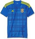 adidas Herren FFU Away Jersey Das Auswärtstrikot der ukrainischen Nationalmannschaft T-shirt, Blau, M