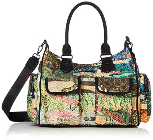 Desigual Damen Handtasche Tasche Henkeltasche EXPLORER LONDON MED Mehrfarbig 18WAXF28-4000