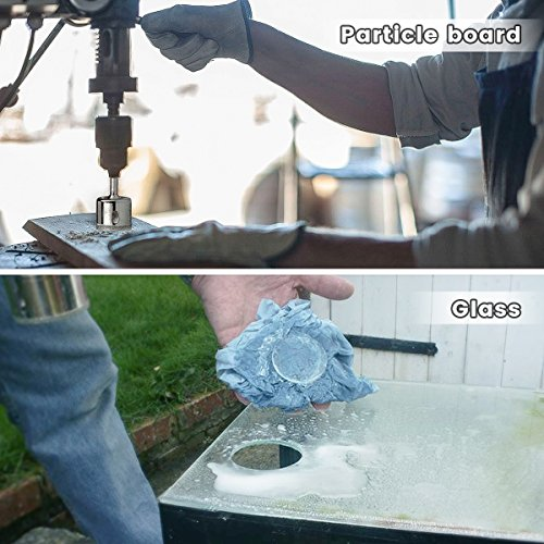 Diamond Drill Bits, Baban 10Pcs Hole Saw Diamond Drill Bit Hollow Core Drill Bit Set for Diamond Coating, Carbon Steel for Glass, Ceramics, Porcelain, Ceramic Tile, Marble, 6-32mm